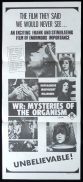 WR MYSTERIES OF THE ORGANISM Daybill Movie Poster Sexploitation