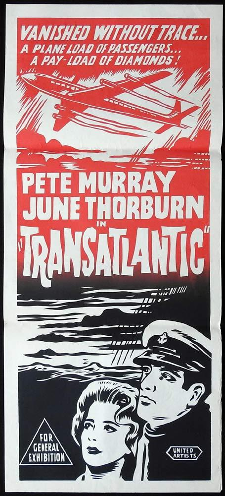 TRANSATLANTIC Original daybill Movie Poster Pete Murray