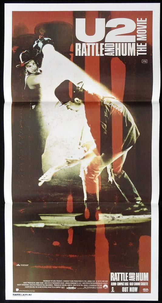 U2 RATTLE AND HUM Original Daybill Movie poster Bono The Edge Adam Clayton