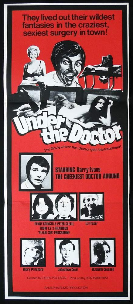 UNDER THE DOCTOR Original Daybill Movie poster Barry Evans Liz Fraser