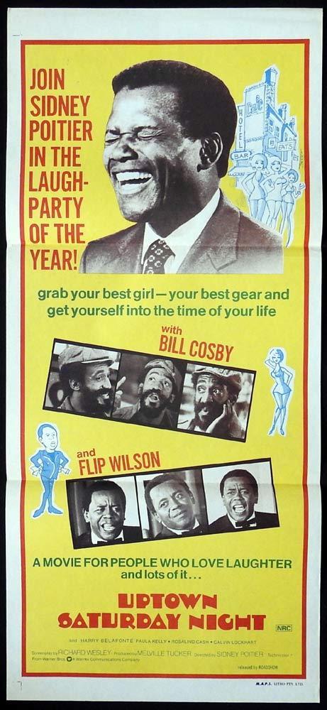 UPTOWN SATURDAY NIGHT Original Daybill Movie poster Sidney Poitier Bill Cosby