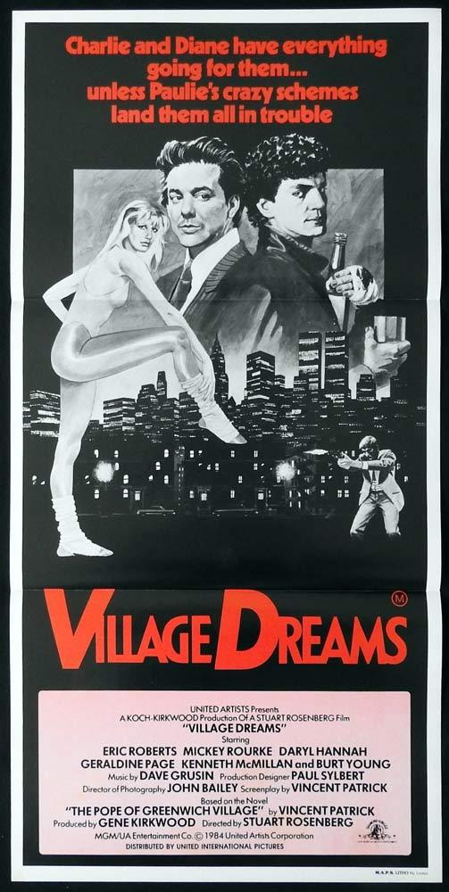 VILLAGE DREAMS Original Daybill Movie Poster Mickey Rourke Eric Roberts