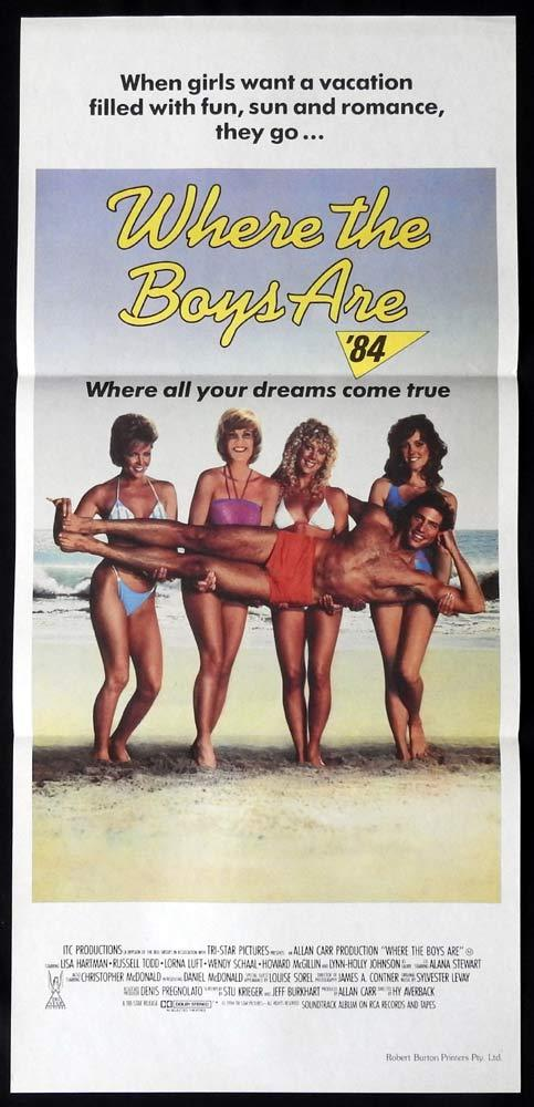 WHERE THE BOYS ARE Original Daybill Movie poster LISA HARTMAN Russell Todd