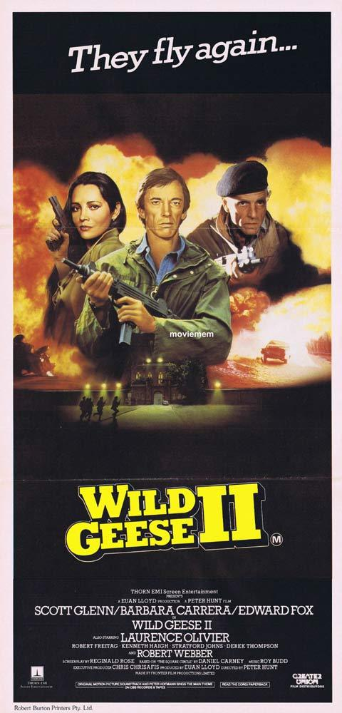 WILD GEESE 2 Original daybill Movie poster 1985 Scott Glenn Peter Hunt