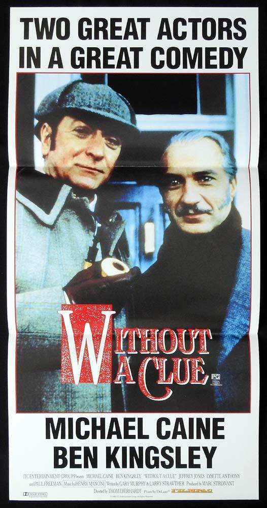 WITHOUT A CLUE Original Daybill Movie poster MICHAEL CAINE Ben Kingsley