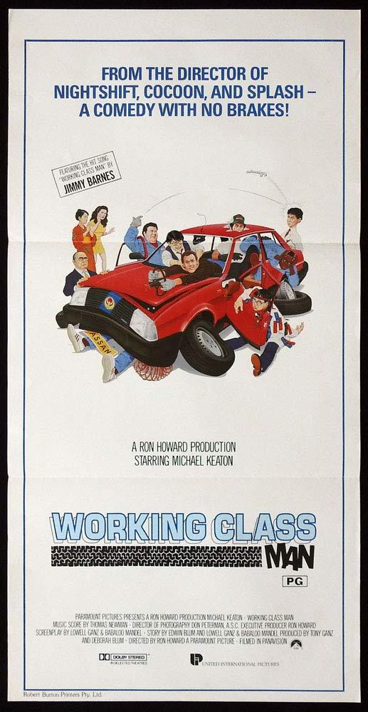 WORKING CLASS MAN aka GUNG HO Original Daybill Movie Poster Michael Keaton