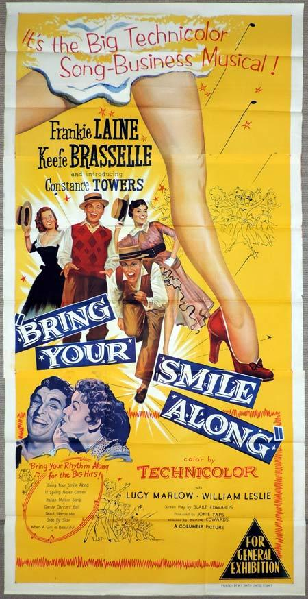 BRING YOUR SMILE ALONG Original 3 Sheet Movie Poster Frankie Laine