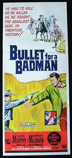 BULLET FOR A BADMAN Daybill Movie Poster 1964 Audie Murphy