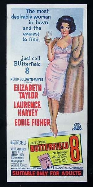 BUTTERFIELD 8 Original Daybill Movie Poster Elizabeth Taylor 1966r