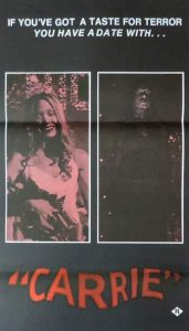 CARRIE Daybill Movie Poster Original or Reissue? image
