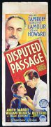 DISPUTED PASSAGE Movie Poster 1939 Dorothy Lamour Richardson Studio RARE Long daybill