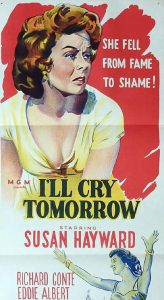 I'LL CRY TOMORROW Daybill Movie poster Original or Reissue? image