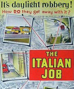 THE ITALIAN JOB Daybill Movie Poster Original or Reissue? image