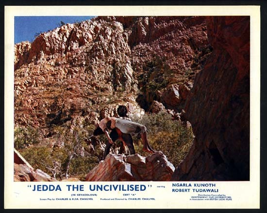 JEDDA 1955 Charles Chauvel RARE ORIGINAL UK Front of House Lobby Card 3