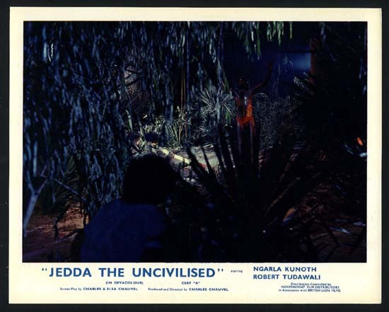 JEDDA 1955 Charles Chauvel RARE ORIGINAL UK Front of House Lobby Card 8