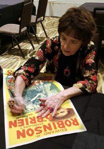 MARGARET O'BRIEN Signing an Australian Daybill Movie Poster image