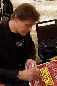 MICHAEL PARE Signing a Streets of Fire daybill movie poster image