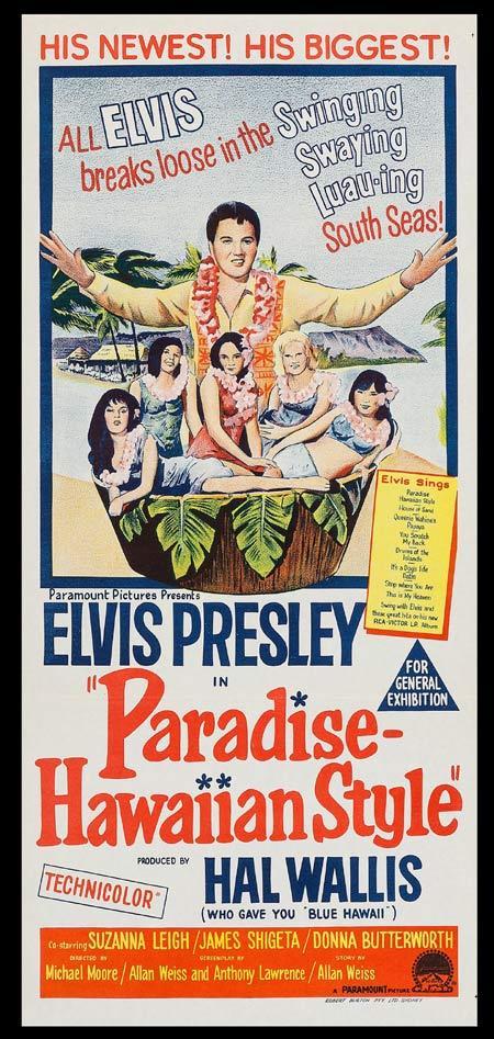 PARADISE HAWAIIAN STYLE Original Daybill Movie Poster Elvis Presley