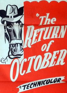 THE RETURN OF OCTOBER Daybill Movie poster Original or Reissue? image