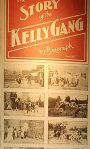 THE STORY OF THE KELLY GANG Original Daybill Movie poster on display image