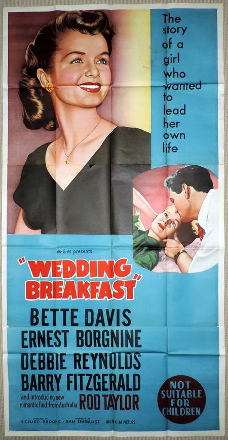 WEDDING BREAKFAST aka THE CATERED AFFAIR Original 3 Sheet Movie Poster Bette Davis