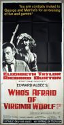 WHO'S AFRAID OF VIRGINIA WOLF Original 3 Sheet Movie Poster Elizabeth Taylor