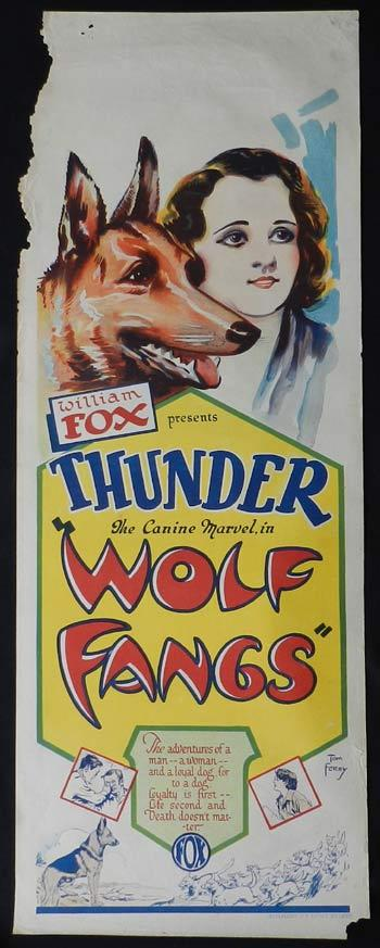 WOLF FANGS Long Daybill Movie poster 1927 Tom Ferry art