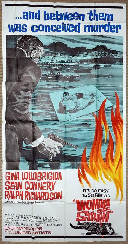 WOMAN OF STRAW Original US 3 Sheet Movie Poster Gina Lollobrigida