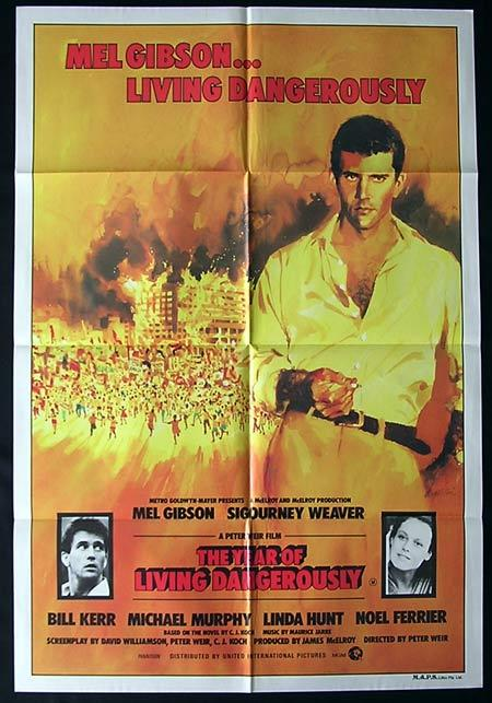 THE YEAR OF LIVING DANGEROUSLY 1982 Mel Gibson One sheet movie poster