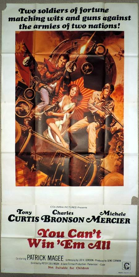 YOU CAN'T WIN EM ALL Original 3 Sheet Movie Poster Charles Bronson
