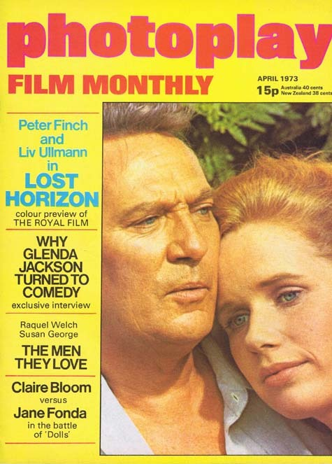PHOTOPLAY Film Monthly Magazine April 1973 Peter Finch Liv Ullmann