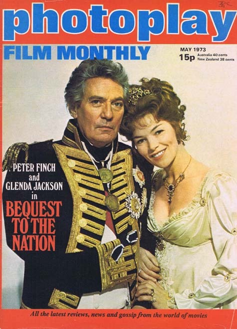 PHOTOPLAY Film Monthly Magazine May 1973 Peter Finch Glenda Jackson cover