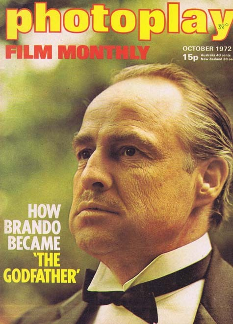 PHOTOPLAY Film Monthly Magazine October 1972 Marlon Brando The Godfather
