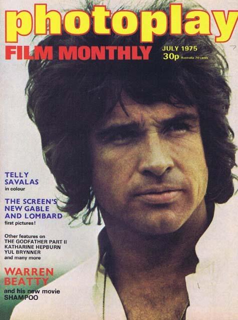 PHOTOPLAY Film Monthly Magazine July 1975 Warren Beatty Shampoo cover