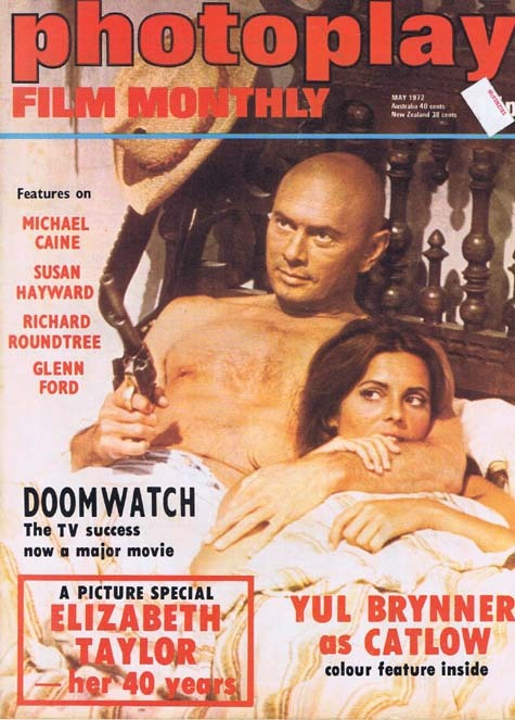 PHOTOPLAY Film Monthly Magazine May 1972 Yul Brynner as Catlow