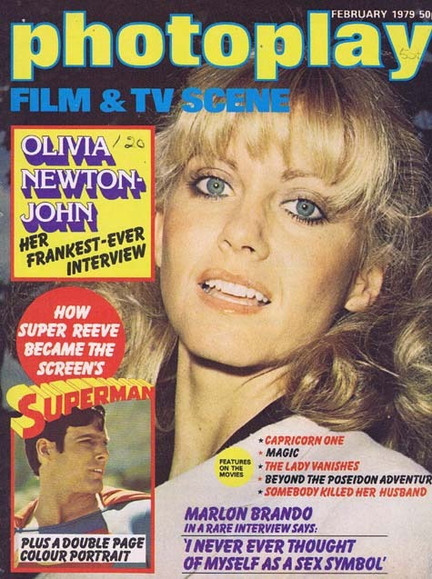 PHOTOPLAY Film and TV Scene Magazine Feb 1979 Superman Centre spread and feature