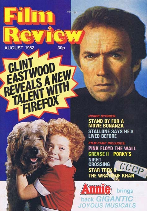 FILM REVIEW Magazine Aug 1982 Clint Eastwood Firefox cover