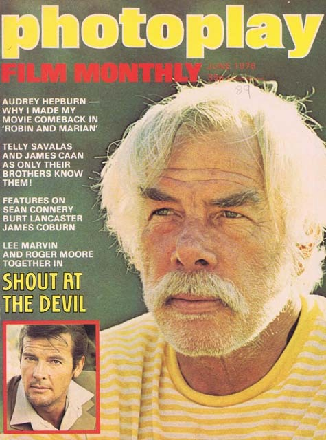PHOTOPLAY Film Monthly Magazine June 1976 Lee Marvin Roger Moore cover