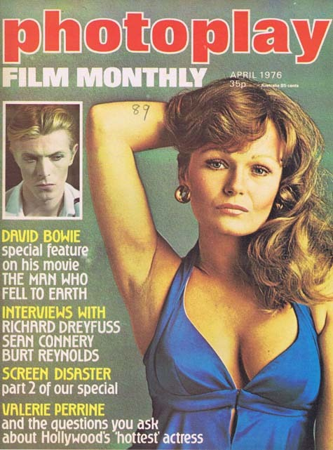 PHOTOPLAY Film Monthly Magazine April 1976 Valerie Perrine David Bowie Cover
