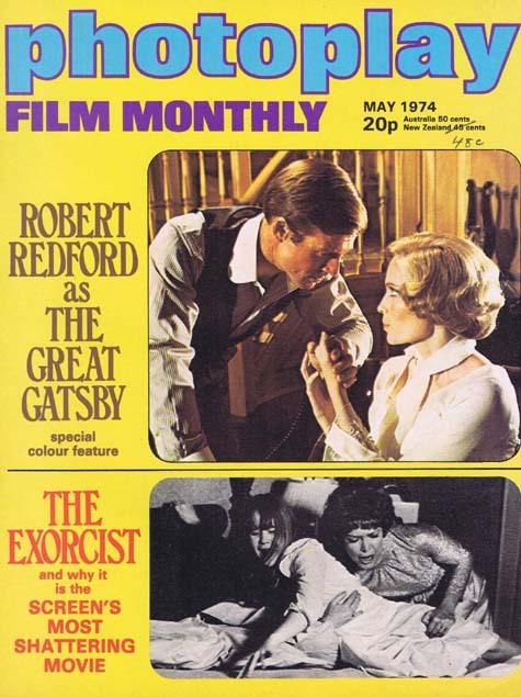 PHOTOPLAY Film Monthly Magazine Jan 1974 Robert Redford Great Gatsby