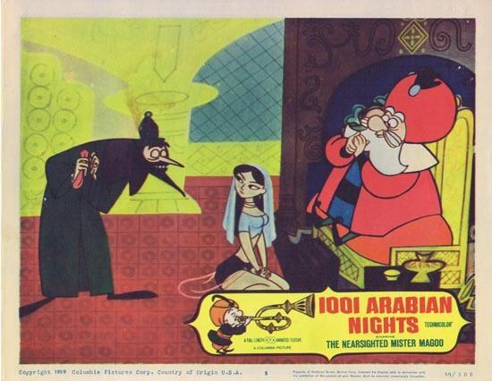 1001 ARABIAN NIGHTS Lobby Card 5 1959 Jim Backus as the The Nearsighted Mr. Magoo!