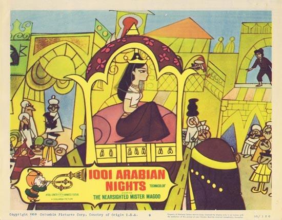 1001 ARABIAN NIGHTS Lobby Card 6 1959 Jim Backus as the The Nearsighted Mr. Magoo!