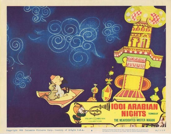 1001 ARABIAN NIGHTS Lobby Card 8 1959 Jim Backus as the The Nearsighted Mr. Magoo!