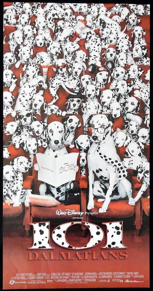 101 DALMATIONS Original Daybill Movie Poster Glenn Close Disney