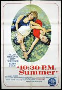 10:30 PM SUMMER One Sheet Movie Poster Jules Dassin Peter Finch