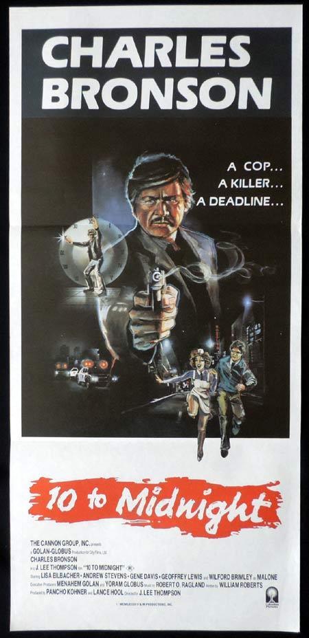 10 TO MIDNIGHT Original Daybill Movie Poster Charles Bronson