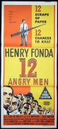 12 ANGRY MEN Original Daybill Movie Poster Henry Fonda Courtroom Classic