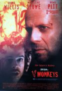 12 MONKEYS Original daybill Movie Poster BRUCE WILLIS Brad Pitt