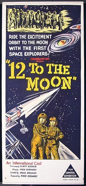 12 TO THE MOON Daybill Movie poster 1960 Science Fiction