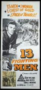 13 FIGHTING MEN Daybill Movie Poster Richard Dix